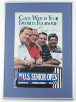 1991 U.S. Senior Open 16x22 Custom Framed Poster Display Signed by (4) with Jack Nicklaus, Arnold Palmer, Gary Player & Lee Trevino (Beckett LOA) at PristineAuction.com