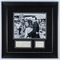Johnny Cash & June Carter Cash Signed 18x18 Custom Framed Signature Cut & Photo Display (Beckett LOA) at PristineAuction.com