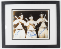 Joe DiMaggio, Mickey Mantle & Ted Williams Signed 16x19 Custom Framed Photo Display (Beckett LOA) (See Description) at PristineAuction.com