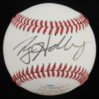Roy Halladay Signed LE American Youth Career Stat Engraved Baseball (JSA COA) (See Description) at PristineAuction.com
