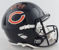 "Brian Urlacher Signed Bears Full-Size Speed Helmet Inscribed ""HOF 2018"" (Beckett COA) at PristineAuction.com"