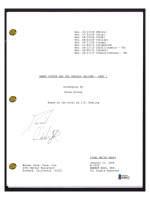 "Daniel Radcliffe Signed ""Harry Potter & The Deathly Hallows: Part 1"" Movie Script (Beckett COA) at PristineAuction.com"