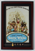 """Snow White & the Seven Dwarfs"" 15x22 Custom Framed Print Display with Vintage 1960 (5) Ceramic Figures (See Description) at PristineAuction.com"