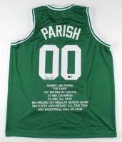 Robert Parish Signed Career Highlight Stat Jersey (TriStar Hologram) (See Description) at PristineAuction.com