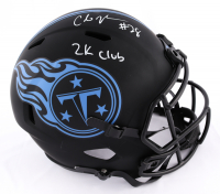 "Chris Johnson Signed Titans Eclipse Alternate Full-Size Speed Helmet Inscribed ""2k Club"" (JSA COA) (See Description) at PristineAuction.com"