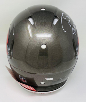 """Tom Brady Signed Buccaneers Super Bowl LV Full-Size Authentic On-Field Speed Helmet Inscribed """"SB LV MVP"""" (Fanatics LOA) at PristineAuction.com"""