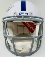"""Peyton Manning Signed Colts Full-Size Authentic On-Field Speed Helmet Inscribed """"HOF 21"""" (Fanatics Hologram) at PristineAuction.com"""