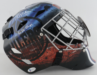 """Grant Fuhr Signed Oilers Full-Size Goalie Mask Inscribed """"5x SC Champs"""" (Beckett COA) at PristineAuction.com"""