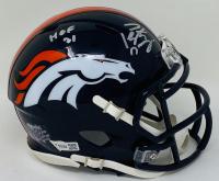 "Peyton Manning Signed Broncos Mini Speed Helmet Inscribed ""HOF 21"" (Fanatics Hologram) at PristineAuction.com"