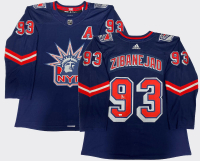 Mika Zibanejad Signed Rangers Jersey (Fanatics Hologram) at PristineAuction.com