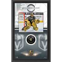Marc-Andre Fleury Signed Golden Knights 15.5x25.5 Custom Framed Puck Shadowbox Display (Fanatics Hologram) at PristineAuction.com