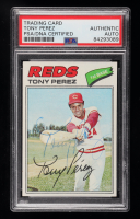 Tony Perez Signed 1977 Topps #655 (PSA Encapsulated) at PristineAuction.com