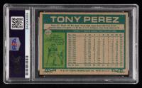 Tony Perez Signed 1977 Topps #655 (PSA Encapsulated) at PristineAuction.com