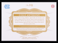 Cole Anthony 2020-21 Panini Flawless Collegiate Gold #12 #8/10 at PristineAuction.com