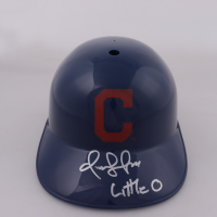 "Omar Vizquel Signed Indians Full-Size Batting Helmet Inscribed ""Little O"" (Schwartz Sports COA) at PristineAuction.com"