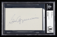 Gino Cappelletti Signed 3x5 Index Card (BGS Encapsulated) at PristineAuction.com