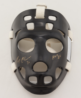 "Gerry Cheevers Signed Full-Size Throwback Hockey Mask Inscribed ""HOF 85"" (Schwartz Sports COA) (See Description) at PristineAuction.com"