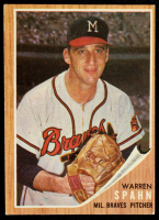 Warren Spahn 1962 Topps #100 at PristineAuction.com