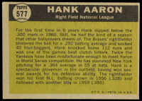 Hank Aaron 1961 Topps #577 All-Star at PristineAuction.com