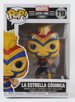 La Estrella Cosmica - Lucha Captain Marvel - Marvel: Lucha Libre Edition #710 Funko Pop! Vinyl Bobble-Head Figure at PristineAuction.com