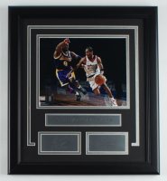 Kobe Bryant & Allen Iverson 16.5x18.5 Custom Framed Photo Display at PristineAuction.com