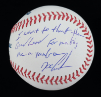 "Dwight ""Doc"" Gooden Signed OML Baseball Inscribed ""I Want To Thank The Good Lord For Making Me A Yankee"" (JSA COA) at PristineAuction.com"