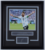 Lionel Messi Team Argentina 14x18 Custom Framed Photo Display at PristineAuction.com