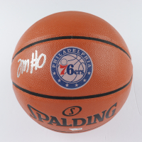 Tyrese Maxey Signed 76ers Logo NBA Game Ball Series Basketball (Fanatics Hologram) (See Description) at PristineAuction.com