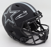 CeeDee Lamb Signed Cowboys Full-Size Eclipse Alternate Speed Helmet (Fanatics Hologram) (See Description) at PristineAuction.com