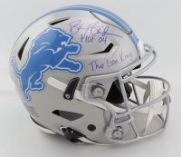 """Barry Sanders Signed Lions Full-Size Authentic On-Field SpeedFlex Helmet Inscribed """"HOF 04"""" & """"The Lion King"""" (Schwartz COA) at PristineAuction.com"""