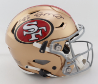 Joe Montana & Jerry Rice Signed 49ers Full-Size Authentic On-Field SpeedFlex Helmet (Schwartz COA) at PristineAuction.com