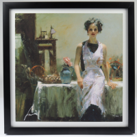 "Pino ""Evening Thoughts"" LE 19.5x19.5 Custom Framed Giclee on Paper Display at PristineAuction.com"