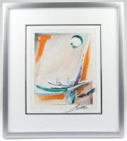 "Alfred Gockel ""Flameneco II"" 21.5x23.5 Custom Framed Giclee on Paper Display at PristineAuction.com"