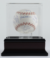 Offical 2004 All-Star Game Baseball with Display Case Signed by (29) with Carlos Beltran, Roger Clemens, Miguel Cabrera, Randy Johnson (PSA LOA & MLB Hologram) at PristineAuction.com