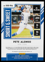 Pete Alonso 2021 Donruss Short & Sweet Signatures #1 at PristineAuction.com