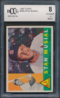Stan Musial 1960 Topps #250 (BCCG 8) at PristineAuction.com