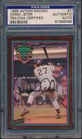 Derek Jeter Signed 1995 Action Packed #1 POY (PSA Encapsulated) at PristineAuction.com