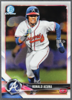 Ronald Acuna Jr. 2018 Bowman Chrome Prospects #BCP1 RC at PristineAuction.com