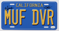 """Cheech Marin & Tommy Chong Signed """"Up in Smoke"""" 6x12 License Plate (JSA COA) at PristineAuction.com"""