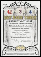 Eddie Mathews / Harmon Killebrew / Duke Snider 2021 Leaf Lumber Bat Rack Three Red #BR306 #1/1 at PristineAuction.com