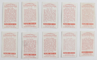 """1934 Gallaher """"Champions of Stage & Screen"""" Complete Set of (48) Cigarette Cards with #46 Clark Gable, #48 Lillian Harvey, #7 Joan Crawford, #17 Jean Harlow, #4 Bing Crosby, #47 Marlene Dietrich, #14 Katharine Hapburn at PristineAuction.com"""