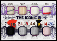 2020 ITG Used Sports The Iconic 8 Memorablilia Purple Spectrum #TI802 Mickey Mantle/Frank Robinson/Willie Mays/Carl Yastrzemski/Willie McCovey/Willie Stargell/Pete Rose/Billy Williams #8/9 at PristineAuction.com