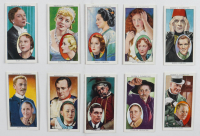 """1938 Ogden's """"Actors Natural & Character Studies"""" Complete Set of (50) Cigarette Cards with #14 W.C. Fields and #27 Boris Karloff at PristineAuction.com"""