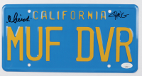 """Cheech Marin & Tommy Chong Signed """"Up in Smoke"""" 6x12 License Plate (JSA COA) (See Description) at PristineAuction.com"""