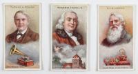 "1924 Bucktrout ""Inventors"" Complete Set of (50) Cigarette Cards with #8 Thomas Edison, #7 Benjamin Franklin, #3 Samuel Morse, #18 Guglielmo Marconi at PristineAuction.com"