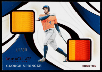 George Springer 2020 Immaculate Collection Immaculate Duals Memorabilia #6 #18/49 at PristineAuction.com