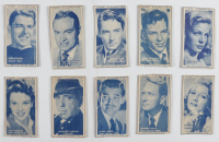 """1947 Turf """"Film Stars"""" Complete Set of (50) Cigarette Cards with Ronald Reagan, Judy Garland, Rita Hayworth, Bob Hope, Frank Sinatra, Gregory Peck at PristineAuction.com"""