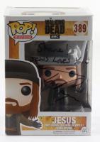 "Tom Payne Morgan Signed ""The Walking Dead"" #389 Jesus Funko Pop! Vinyl Figure Inscribed ""Share! Jesus Loves You"" (Beckett COA) (See Description) at PristineAuction.com"