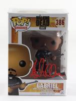 "Seth Gilliam Signed ""The Walking Dead"" Gabriel #386 Funko Pop! Vinyl Figure (Beckett COA) at PristineAuction.com"