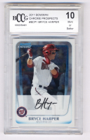 Bryce Harper 2011 Bowman Chrome Prospects #BCP1 (BCCG 10) at PristineAuction.com